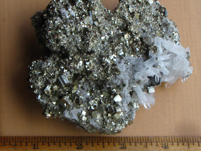Metallic Pyrite with Quartz (can you spot the darker Galena in the Quartz?)