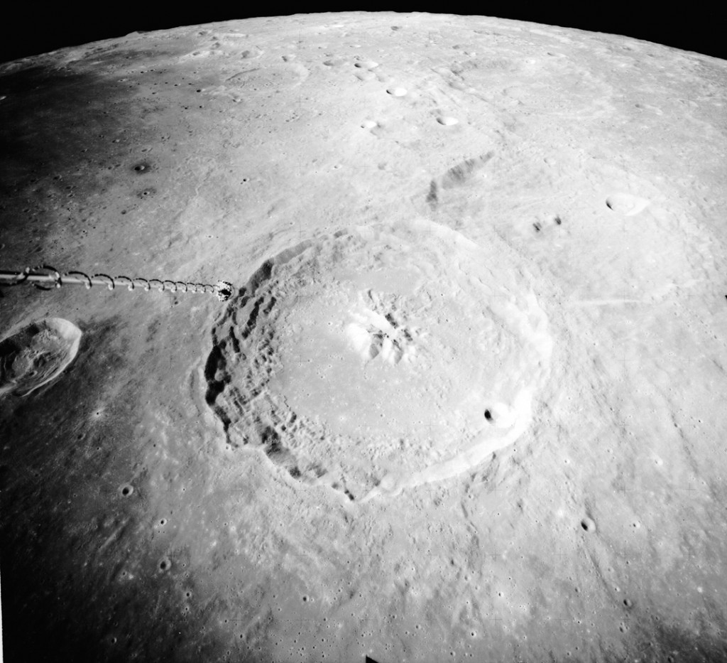 Theophilus Crater on the moon