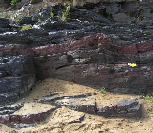 Banded Iron Formation, NeoArchean Pongola Supergroup, White Mfolozi River