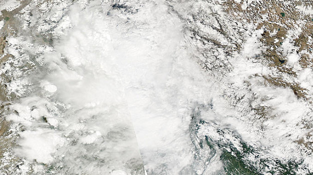 NASA MODIS image of northern Pakistan from 6 August 2010