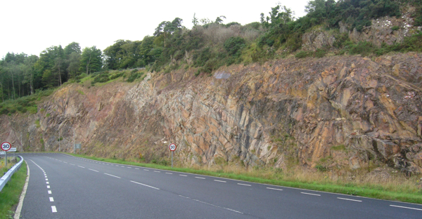 Port Askaig Formation roadcut
