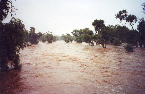 Todd River in Alice Springs, 21 April 2000 (photo by A. Jefferson)