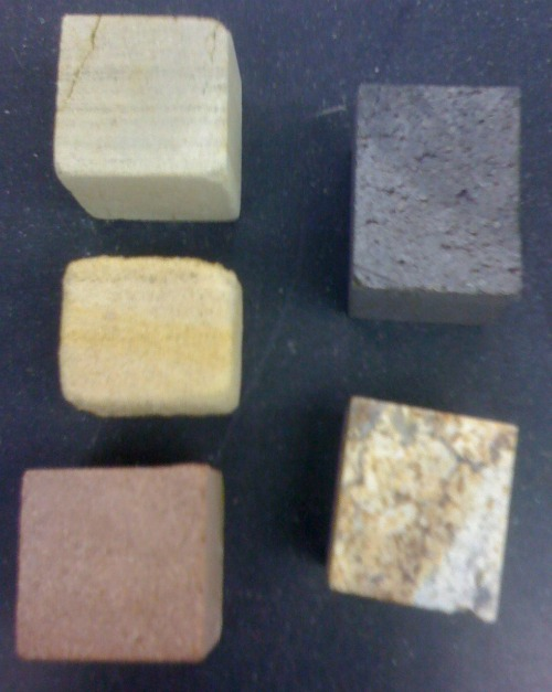 Cubes for measuring porosity