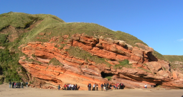 Old Red Sandstone at Pease Bay