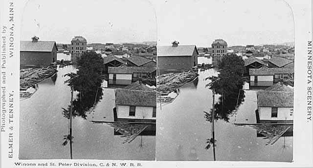 Flooding in Winona, 1880 (Minnesota Historical Society)