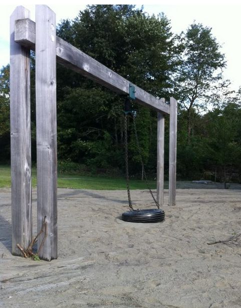 Tire swing and sand deposit (photo by Sarah Lewis and used with permission)