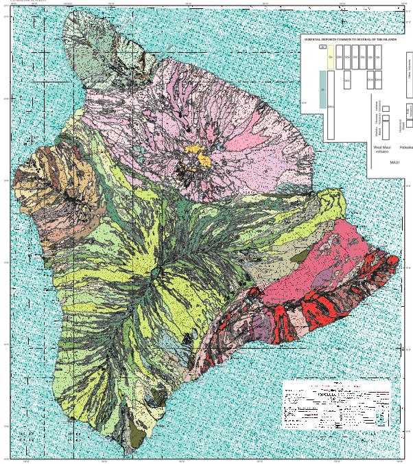 Geological map of the Big Island