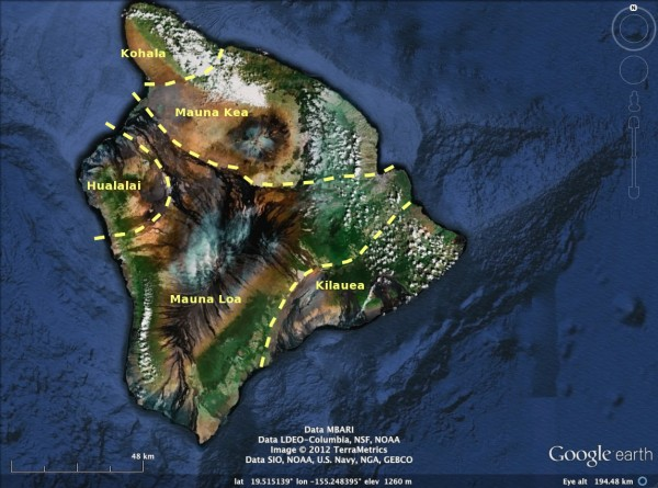 Volcanoes of the Big Island of Hawaii