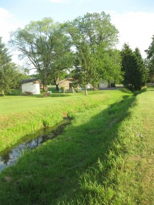 A straight, ditched stream in northeastern Ohio