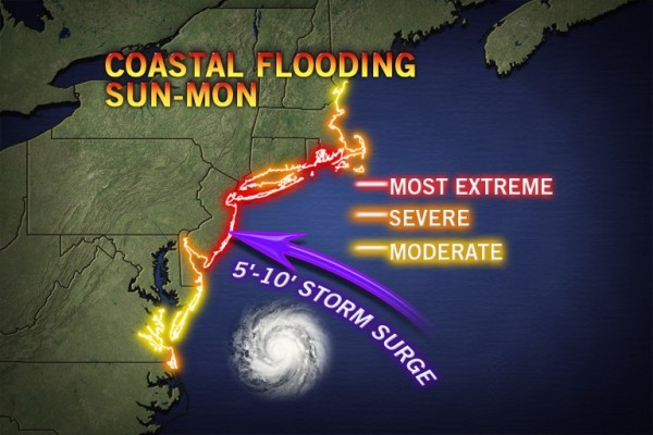5-10 storm surge predicted by Accuweather