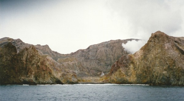 White Island, New Zealand, caldera wall breach