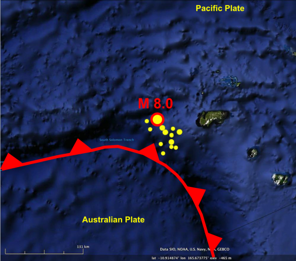 Santa Cruz Island foreshocks