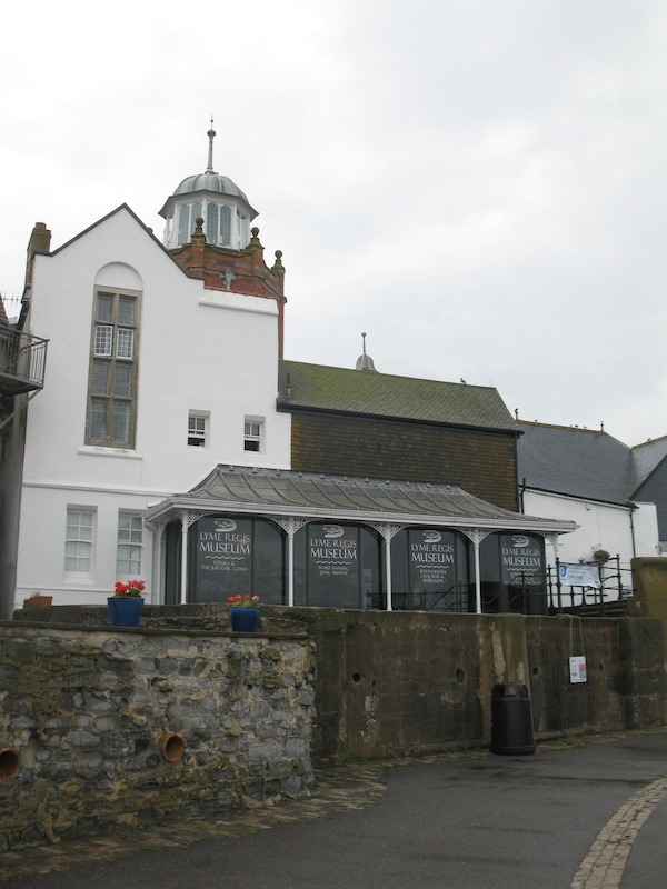 White building with lots of windows, labeled Lyme Regis Museum