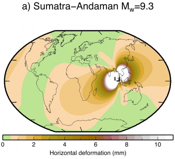 global coseismic deformation due to the Boxing Day 2004 earthquake