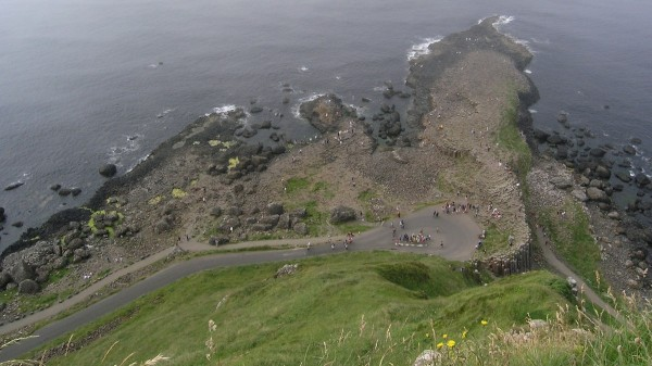 The Giant's Causeway from above.  Photo: Chris Rowan, 2013