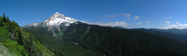 A view of Mount Hood from part of the Timberline Trail
