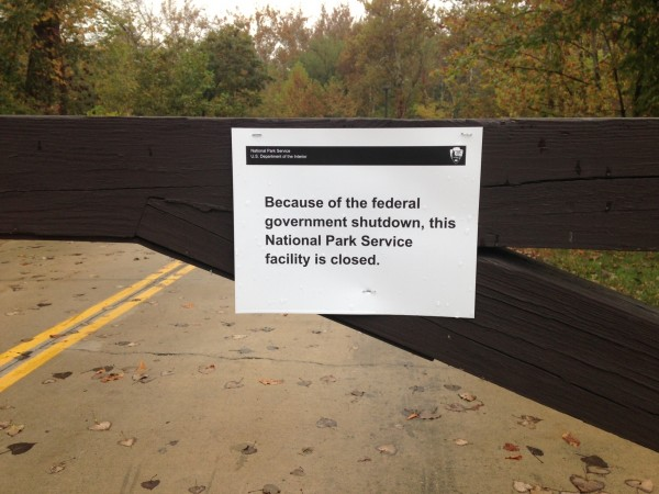 """Because of the federal government shutdown, this National Park Service facility is closed."""