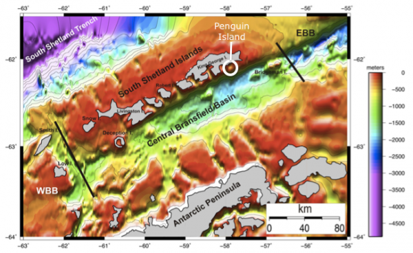Bathymetry of the Bransfield Rift
