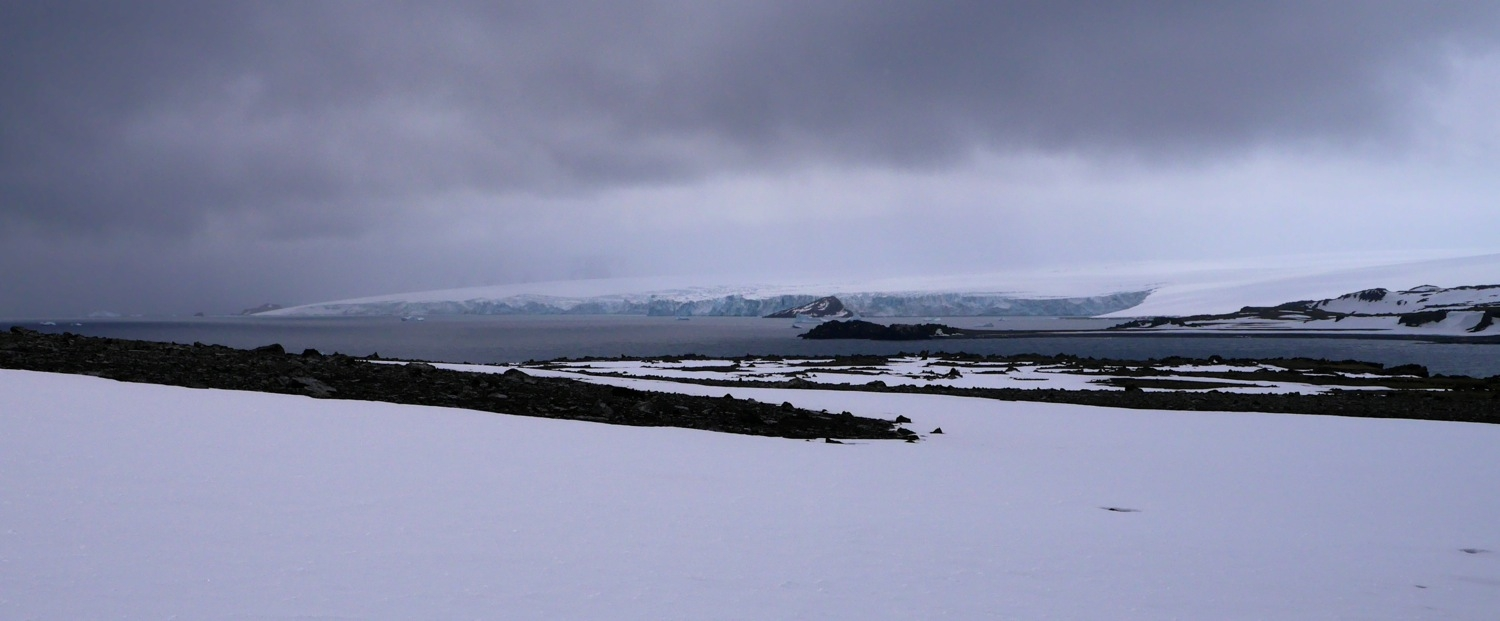 King George Island from slopes of Penguin Island, Antarctica