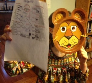 GeoKid wants to know why no lions are in this year's lineup. She's too excited to stay still for a photo too.