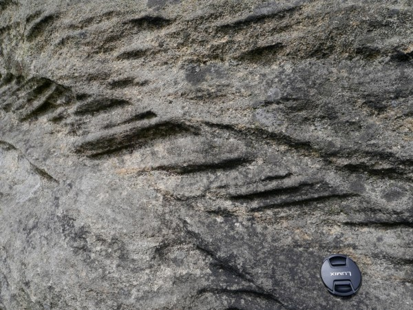 A closeup of one layer of crossbeds in the Millstone Grit