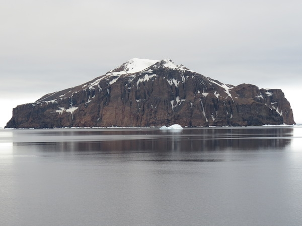 Rosamel Island, viewed from Antarctic Sound. Photo by A. Jefferson.