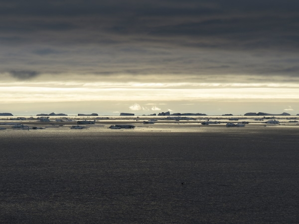 Icy scene in the Weddell Sea, 22 December 2013, photo by A. Jefferson.
