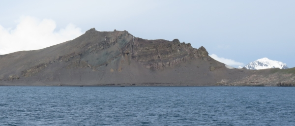 The outcrops at Walker Bay on Livingston Island. Photo by A. Jefferson.