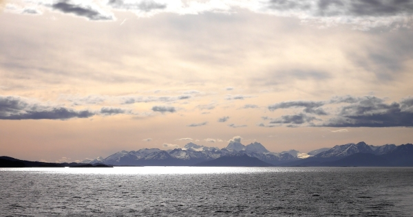 Looking west along the Beagle Channel