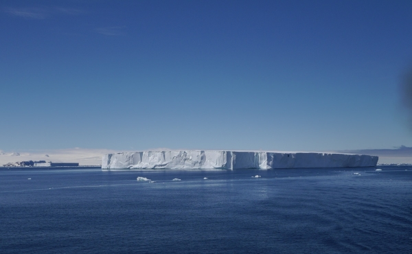 Two tabular icebergs, sitting in a row...