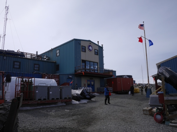 Ashore at Palmer Station, Antarctica.