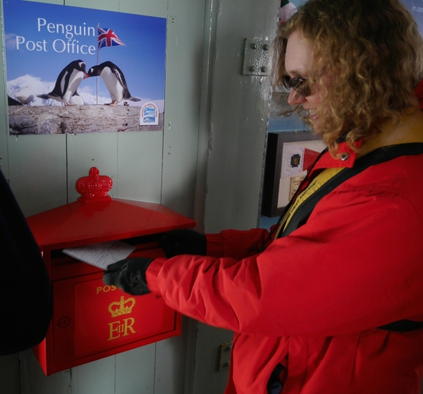 One popular facility at Port Lockroy is the world's most southerly branch of the Royal Mail.