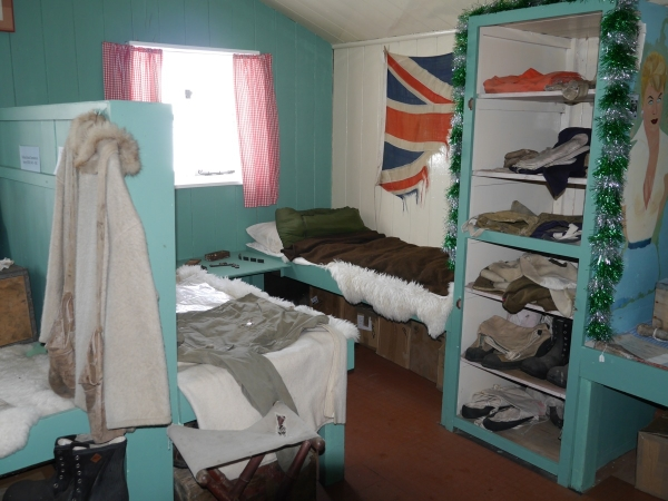 Restored bunkroom at Port Lockroy.