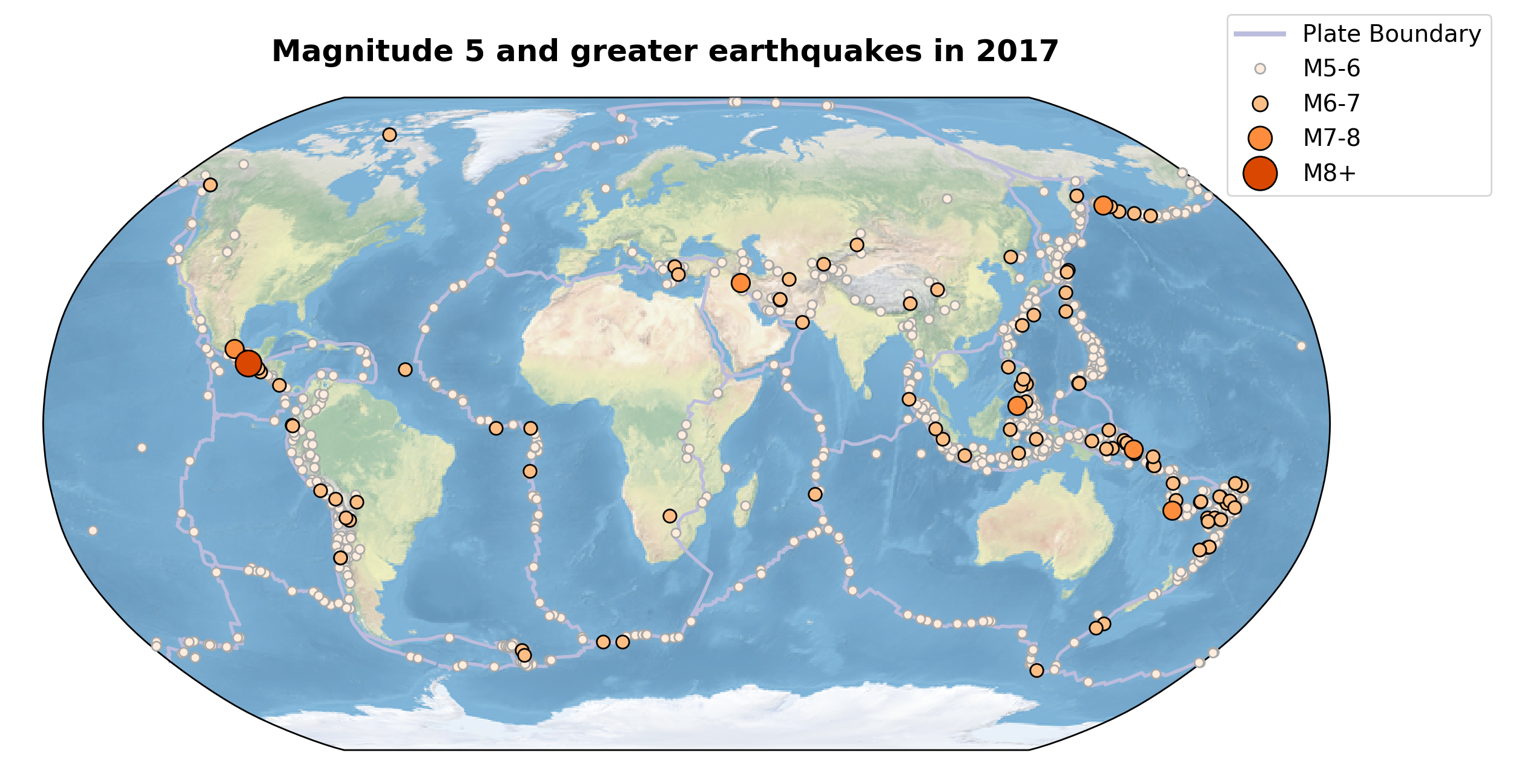 2017 Global Seismicity