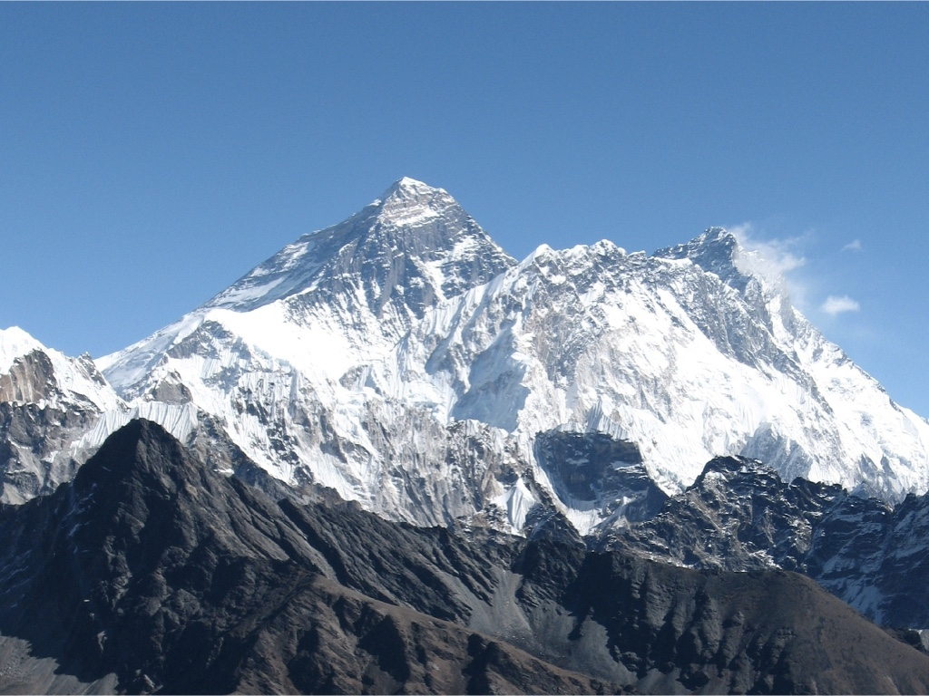 Mount Everest viewed from the southeast.