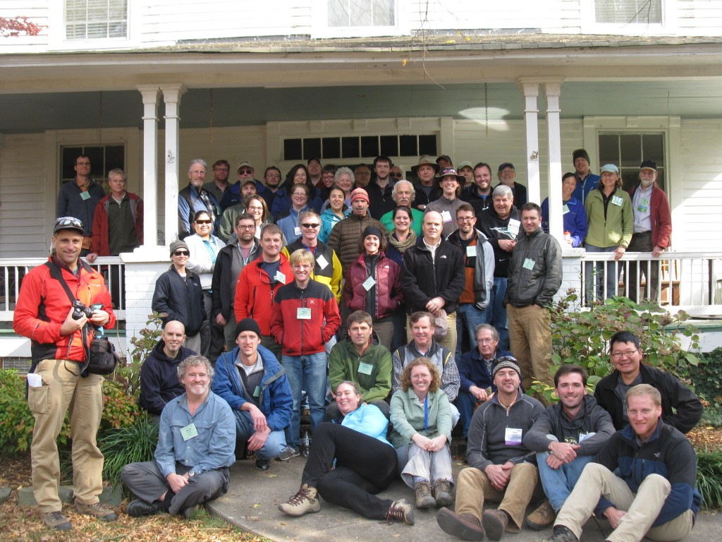 50 geomorphologists on the front steps