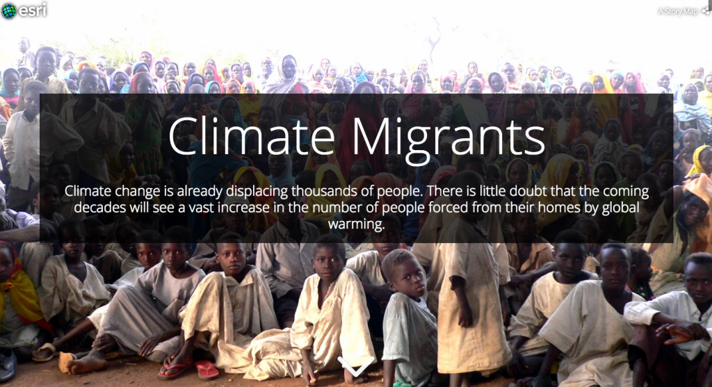 Climate Migrants Story Map by ESRI