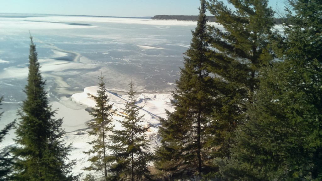 The view from our family's land on Madeline Island, February 3rd, 2017. Photo courtesy of J. Jarvis.