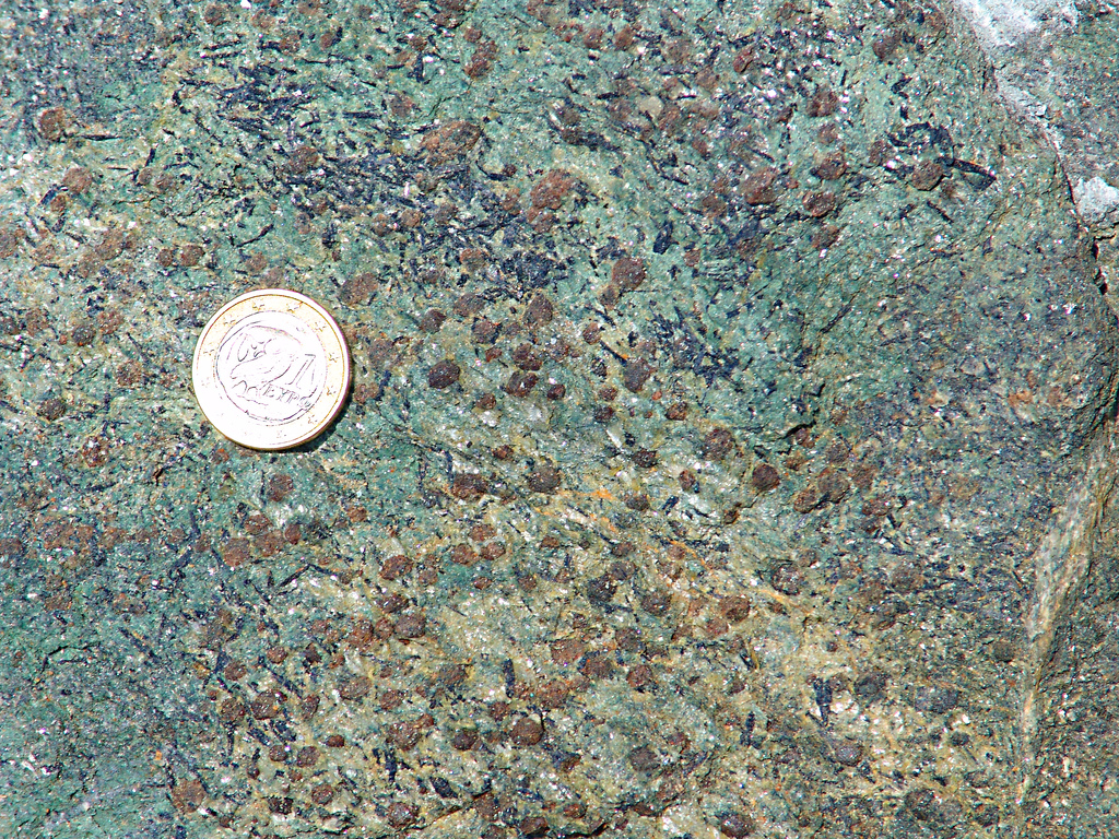 eclogite with rutile from http://www.flickr.com/photos/30659367@N00/60820842