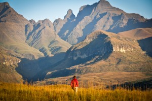 Cathedral Peak area at sunrise - Ukhahlamba Drakensberg National Park, South Africa