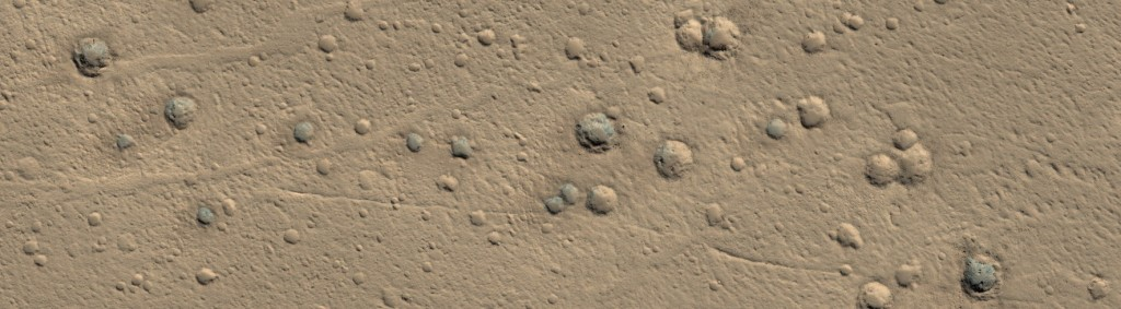 Cluster of Zunil Crater Secondaries