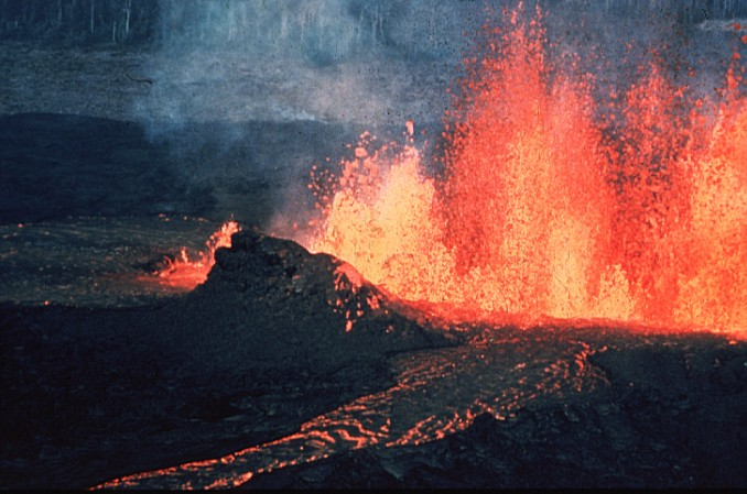 A huge outpouring of lava. From Wikipedia