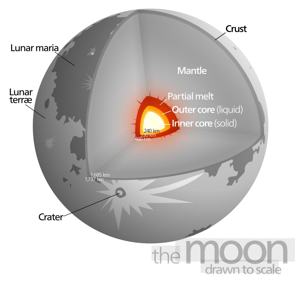 Diagram of the moon's interior. From Wikipedia.