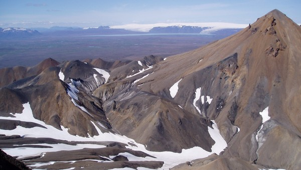 Subglacial rhyolite at Kerlingarfjöll