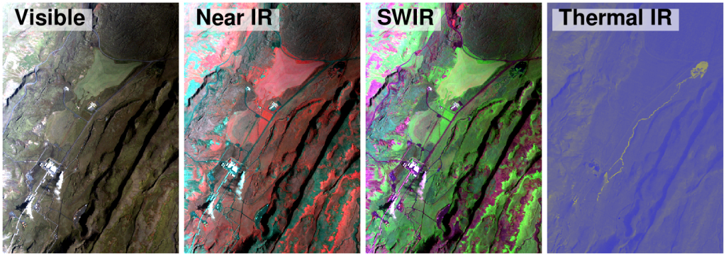 multispectral imaging For multispectral data containing more than 3 spectral bands, the user must choose a subset of 3 bands to display at any given time, and furthermore must map those 3 bands to the computer display in such as way as to render an interpretable image.